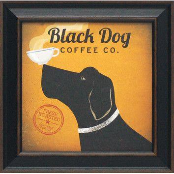 Artistic Reflections Black Dog Coffee Co. Framed Vintage Advertisement