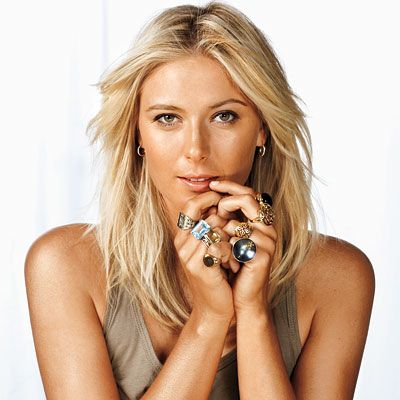 """My friends and family joke that the greatest gift I could receive would be more fingers for all of my rings!"" -Maria Sharapova"
