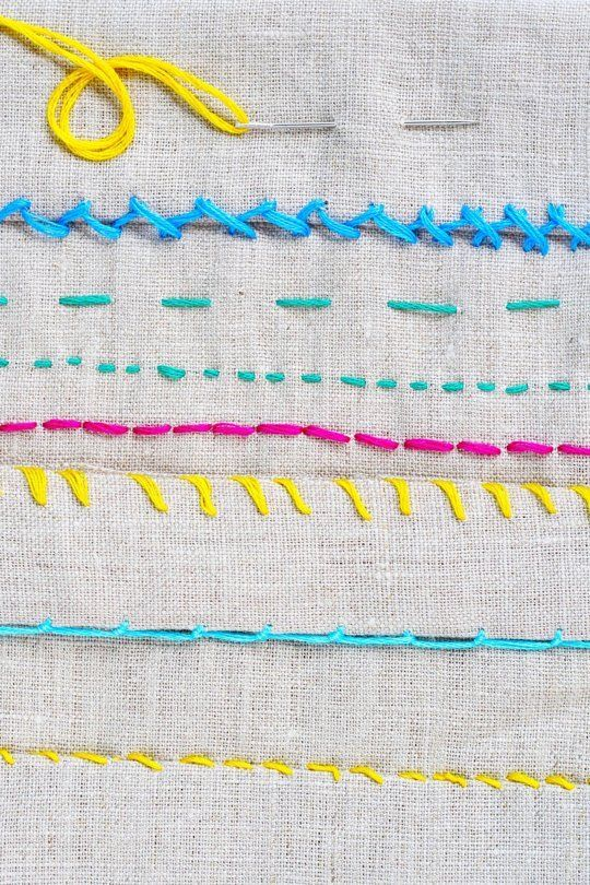 How To Sew by Hand: 6 Helpful Stitches for Home Sewing Projects � Apartment Therapy Tutorials