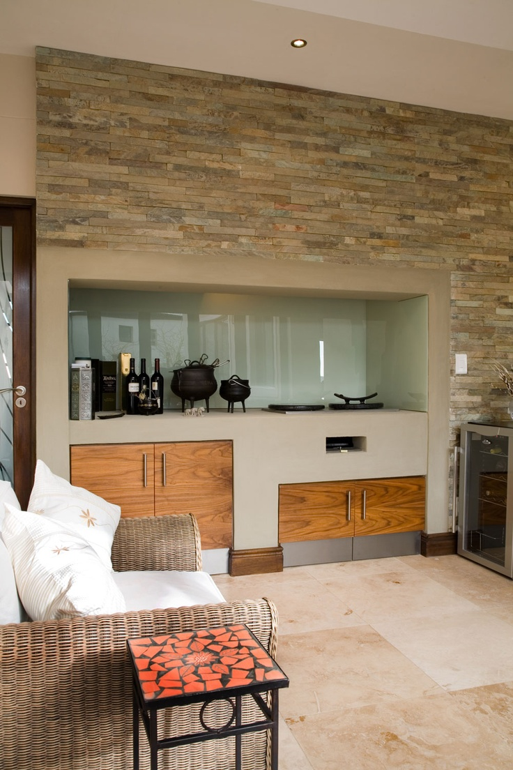 This sexy, hot stone grill area offers a modern take on the traditional braai.