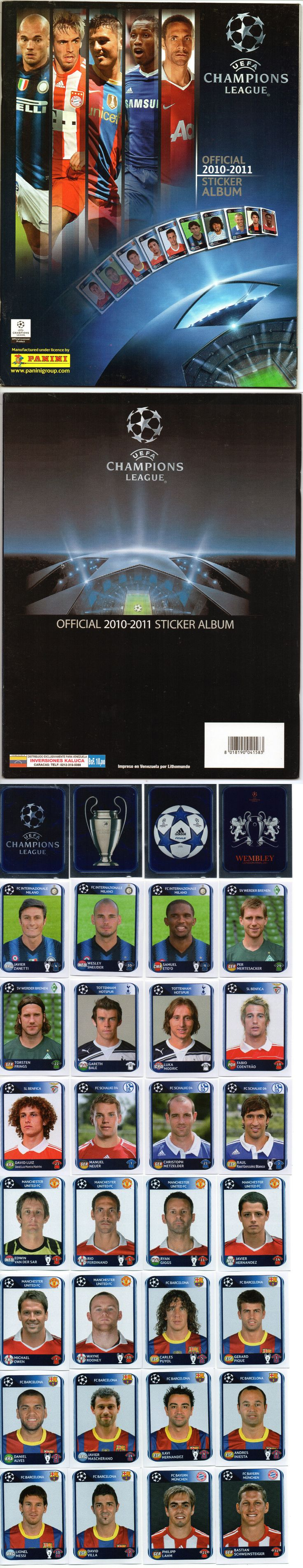 Sports Stickers Sets and Albums 141755: Panini Uefa Champions League 2010 2011 Complete Loose Sticker Set + Empty Album -> BUY IT NOW ONLY: $43.99 on eBay!