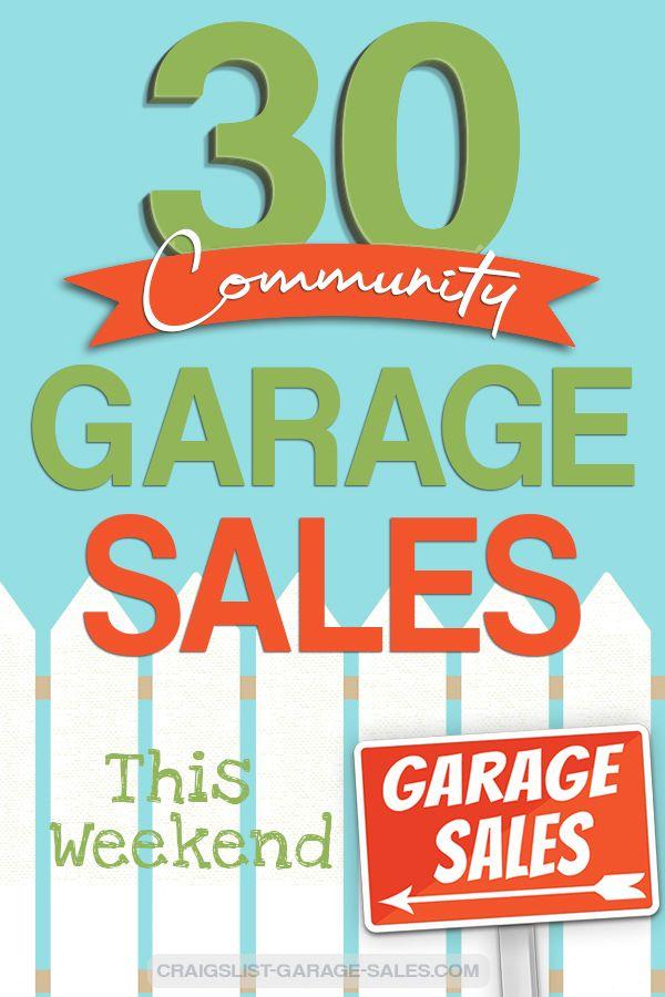 Citywide Neighborhood Garage Sales April 25 27 Neighborhood Garage Sale Garage Sales The Neighbourhood
