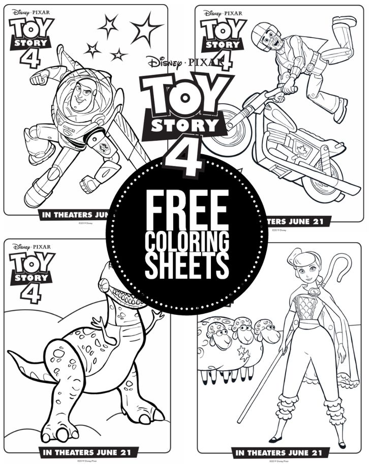 Toy Story 4 New Coloring Sheets that are free printables ...