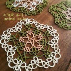 ' SAKURA ' #tatting #maimaikaito #original #originaldesign #japan #sakura #doily #motif #サクラ #オリジナルデザイン #タティングレース #japanesestyle #wabisabi 2/25/2016