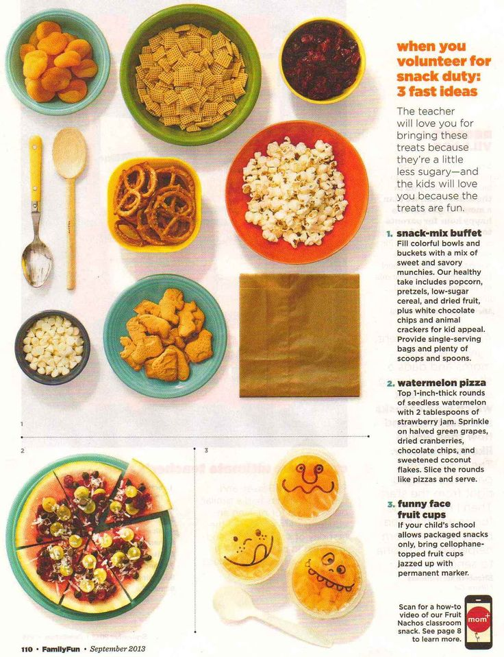 Snacks for the classroom
