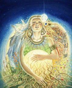 Gaia by Josephine Wall