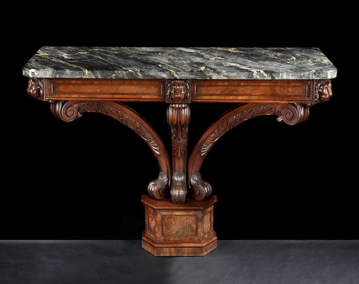 A Pair Of Recency Period Mahogany Console Tables In The Manner Of Marsh U0026  Tatham.