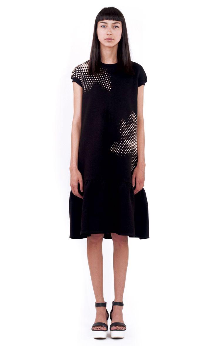 daisy black dress front