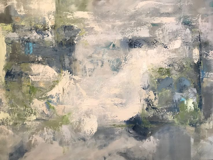 "Storm (Athanasia Susie Colomvakos) Oil & was on canvas 30""x60"""