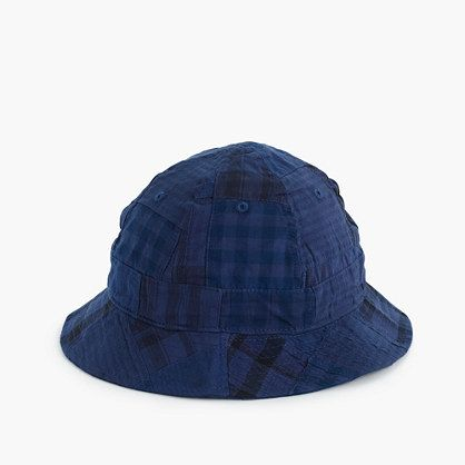 J.Crew Bucket hat in patchwork madras
