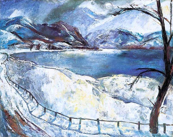 Szőnyi István - Behavazott dunai táj (Duna télen) 1928