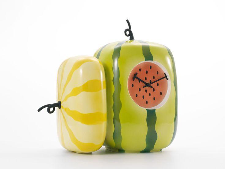 S design: fruit still life clock by hisakazu shimizu