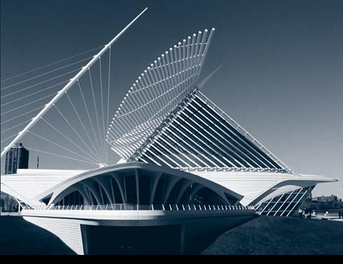 Santiago Calatrava : Spanish architect based in Paris. Influenced by biomimetic ideas such as skeletal systems, palm leaves and the human eye. His buildings often have a physical moving part to them adding to their biomimetic characters.