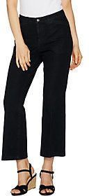 As Is Isaac Mizrahi Live! 24/7 Denim Tall Flare Ankle Jeans