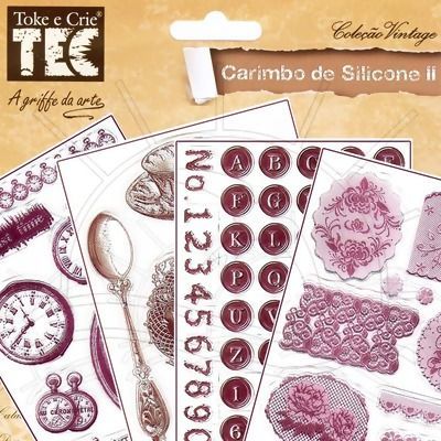 Carimbo de Silicone II Toke e Crie   Tamanho da cartela: 14 x 18cm    Fabricante:  Toke e Crie