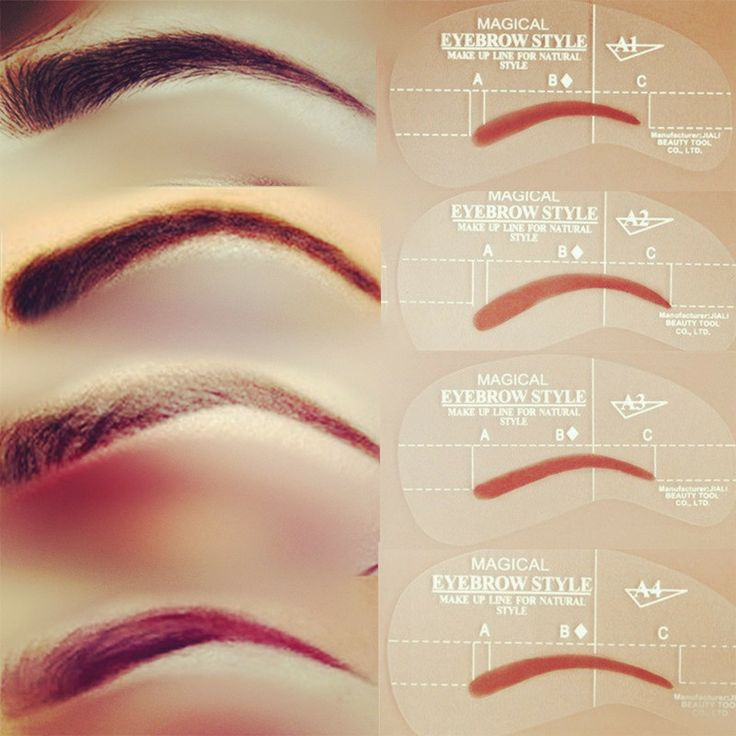 1000 ideas about eyebrow stencil on pinterest eyebrows for Eyebrow templates printable