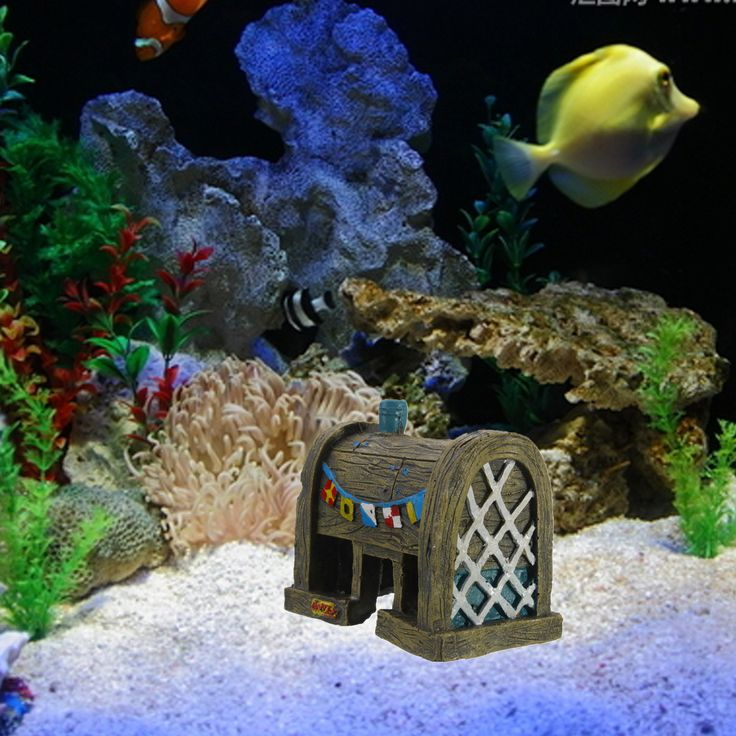 Aquarium Landscape Decoration Resin Simulation Ancient House Decoration Fish Tank Landscape Ornament