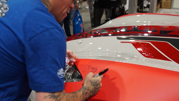 Ryan Signing The Mimakiusa Car He Was There To Sign Autographs And Take Pics Hope You Stopped By Their Booth And Got West Coast Customs Autographs Hope You