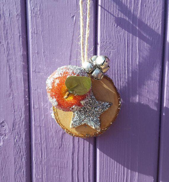 Silver Yule Decor Yuletide Tree Wooden Ornament Pagan