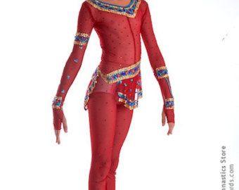 Turnpakje # 131: Ritmische Gymnastiek Leotard, Ice Kunstschaatsen Dress, Acrobatische Gymnastiek Kostuum, Jumpsuit of Dansjurk