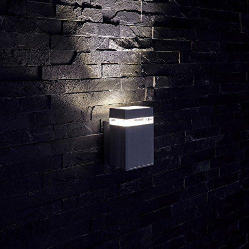 Biard® – Applique Extérieure Murale – LED GU10 – Économique & Boîtier Rectangulaire Design Époxy Noir – Faisceau Ascendant: Luminaire…