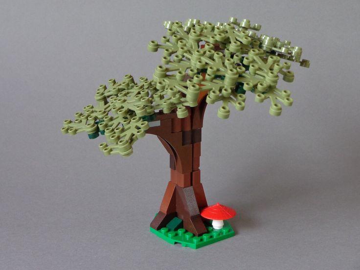 how to make a lego oak tree