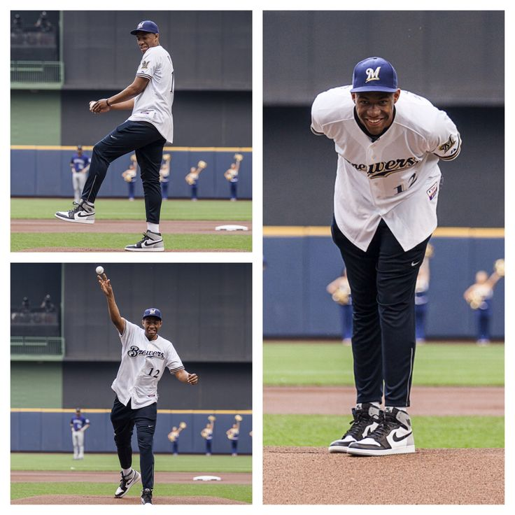 Welcome to Milwaukee, Jabari Parker! The Milwaukee Bucks first round draft pick visited Miller Park today, throwing out a ceremonial first pitch before the #Brewers vs. Rockies game. Click for more!