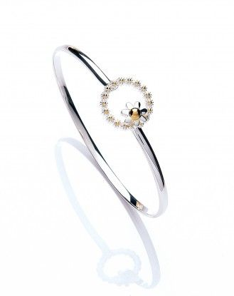 Daisy Jewellery range at Penman Clockcarehttp://www.watchandjewellery.co.uk/ladies-jewellery/daisy-necklace/vintage-daisy-15mm-iota-loop-bangle.html