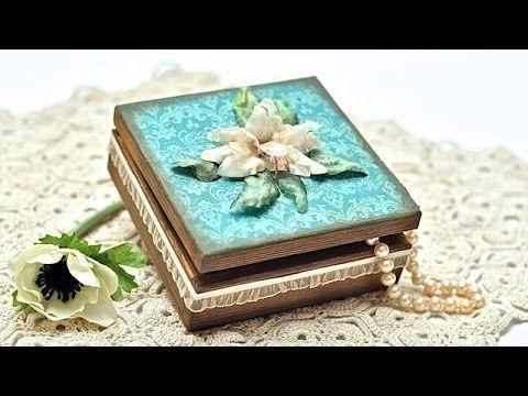 Pudełeczko z sospeso i papierem do scrapbookingu - DIY tutoiral - YouTube