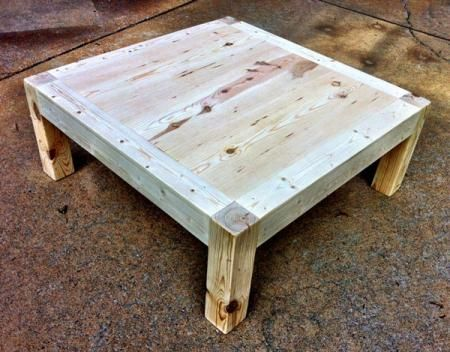 Itable 4x4 coffee table from ana white for the home for 4x4 dining table