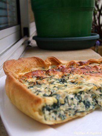 Tarte aux blettes et à la ricotta (prévoir une pâte à tarte à IG bas/ modéré)
