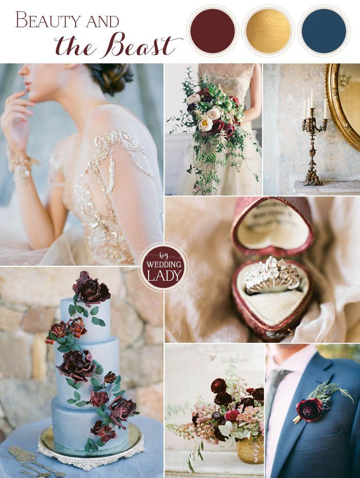 Old World Glamour Beauty and the Beast Wedding Ideas