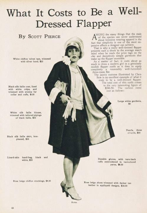 the 1920's woman with conventional dress and behavior