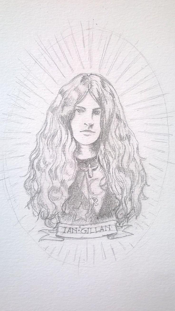 """Ian Gillan"" by calamitafrigo.deviantart.com on @DeviantArt #iangillan #deeppurple #drawing #music #art"