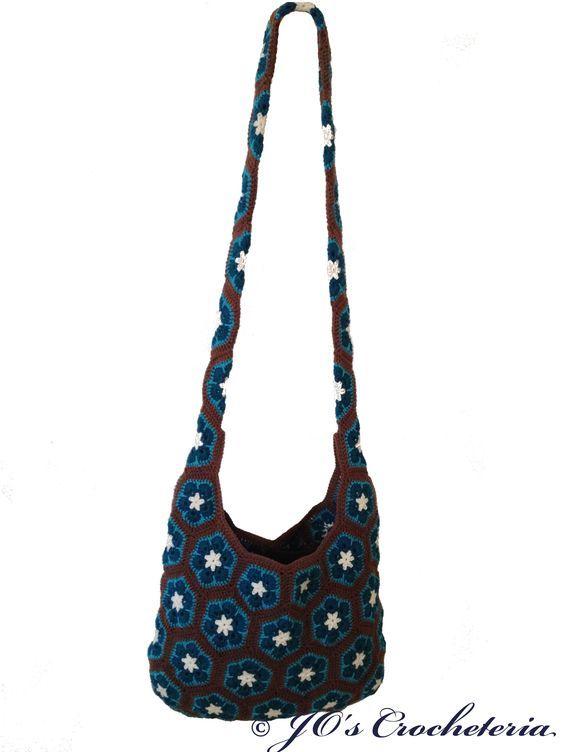 Crochet pattern - African Flower Crochet Pattern Shoulder Bag #crochet…
