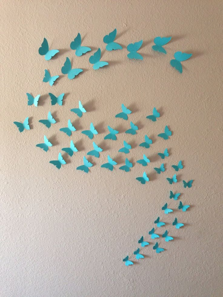 Butterfly wall decals etsy color the walls of your house - 3d Butterfly Wall Art 48 96 Or 144 Butterflies