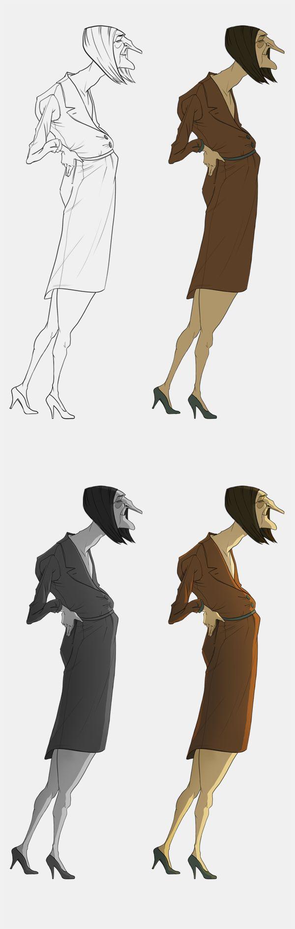 Character Concept Design Process : Line up process vivien bertin character illustrations