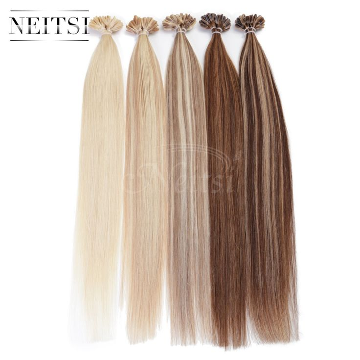"5A Indian Remy Fusion U Nail Tip Human Hair Extensions Straight Weave 20"" 1g/s 100g/pack ombre color black red blonde 10 colors"