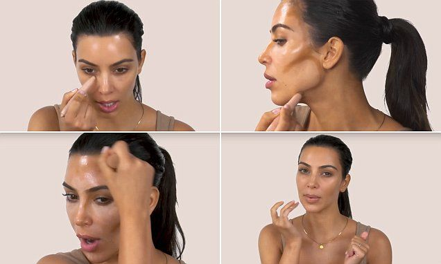 She's a pro! In a new video tutorial, Kim Kardashian showed her fans how she does her own make-up in less than five minutes using only her KKW Beauty Creme Contour and Highlight Kit.