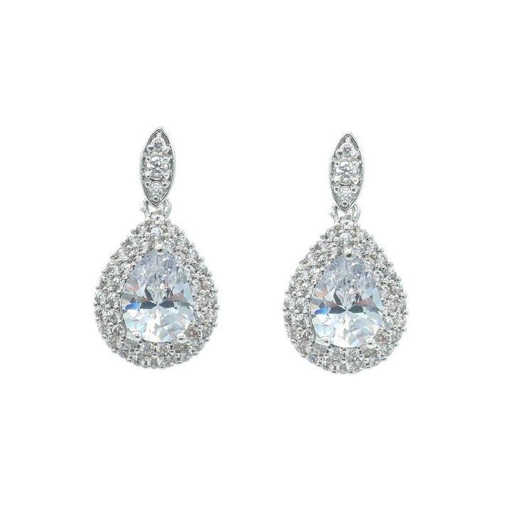 €59 Gorgeous Crystal Oorbel Bruid Bruiloft Vintage Crystal