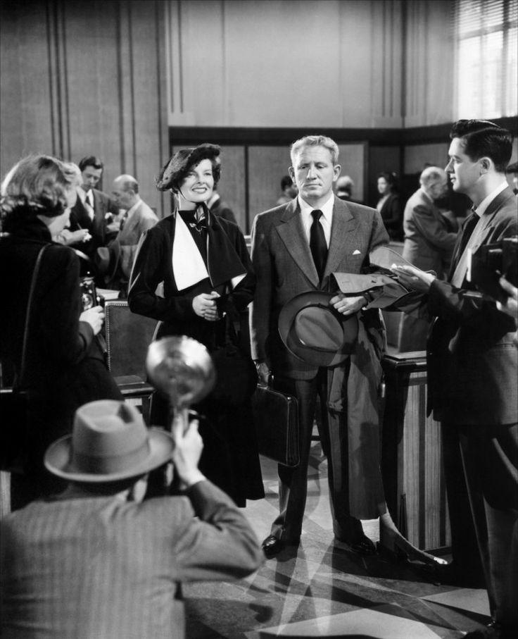 Spencer Tracy and Katharine Hepburn in Adam's Rib (1949)