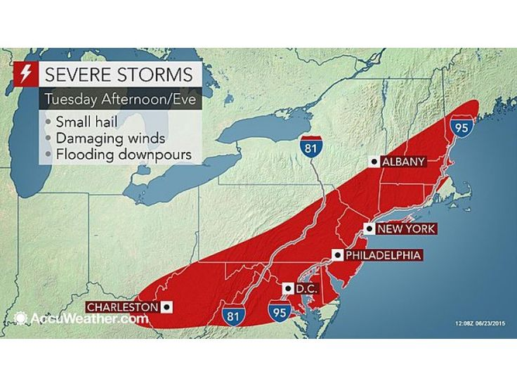 'Severe' Thunderstorm Watch In Place For Bergen County, 70 MPH Winds Possible