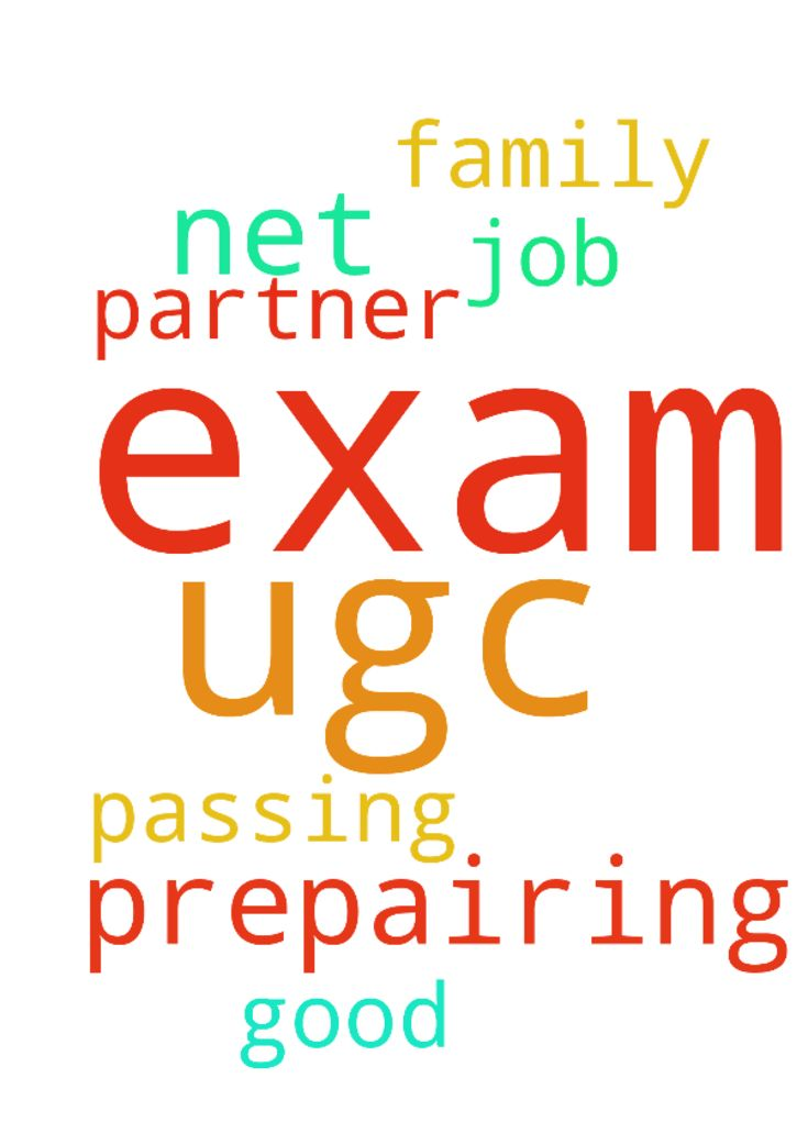 I am prepairing for ugc net exam  and - I am prepairing for ugc net exam and will be praying for passing the exam and good job and a family partner Posted at: https://prayerrequest.com/t/Gny #pray #prayer #request #prayerrequest