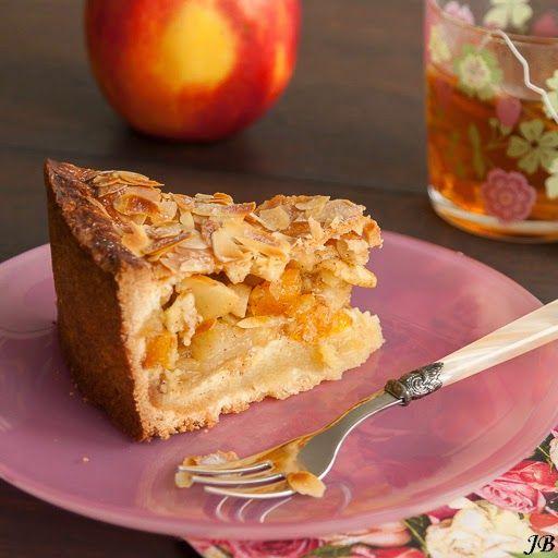 Carolines blog: Appel-abrikozentaart met amandelspijs