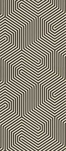 Labyrinth patterned carpet.