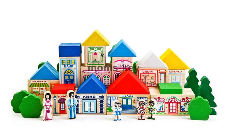 Деревянный конструктор «Веселый городок»