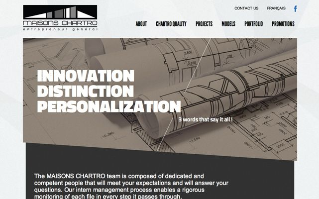 Maisons Chartro - www.maisonschartro.ca #webdesign #gatineau #ottawa #websitedesign