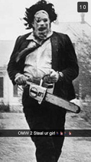 Leatherface - The Texas Chainsaw Massacre | If Horror Movie Villains Were Chillin' On Snapchat