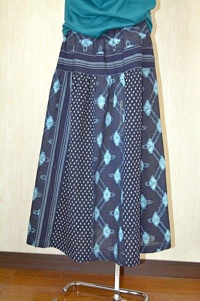 古布ティアードスカート(フリーサイズ)                                                                                                                                                                                 もっと見る