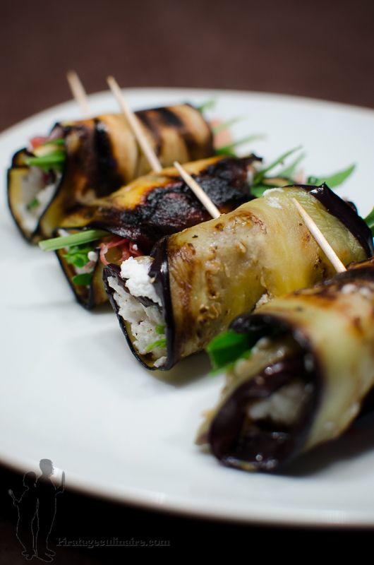 Bouchées d'aubergine à la ricotta, au jambon Serrano et à la roquette | Piratage Culinaire